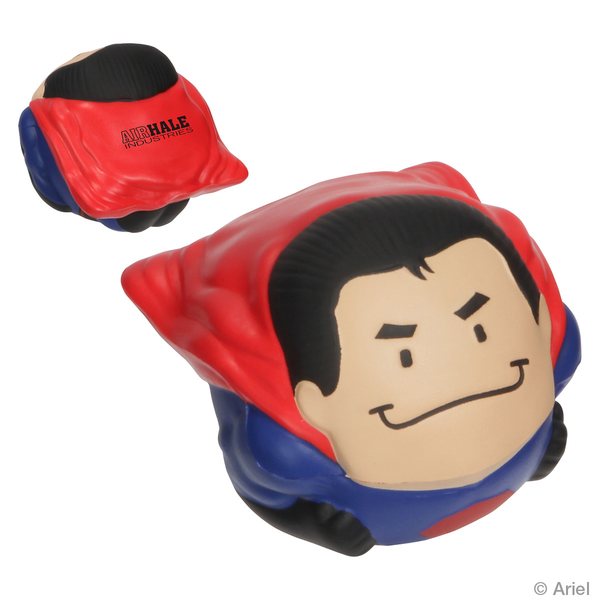 Super Hero Wobbler Stress Reliever, LWO-SH12 - 1 Colour Imprint