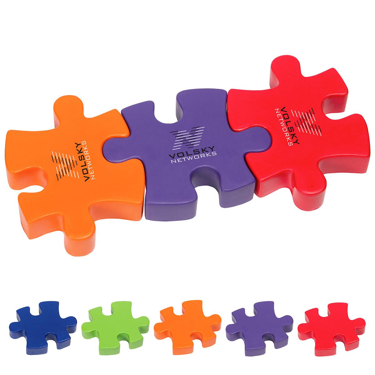 3-Piece Connecting Puzzle Set Stress Reliever, LGS-3P17, 1 Colour Imprint