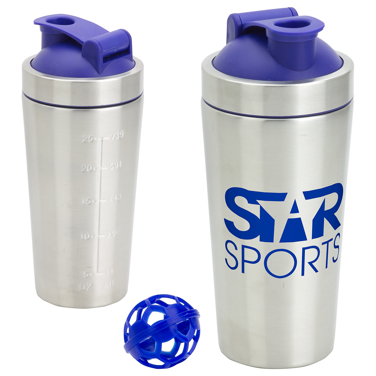 Pop Top 25 oz Stainless Steel Shaker Tumbler, DTM-PS17, 1 Colour Imprint