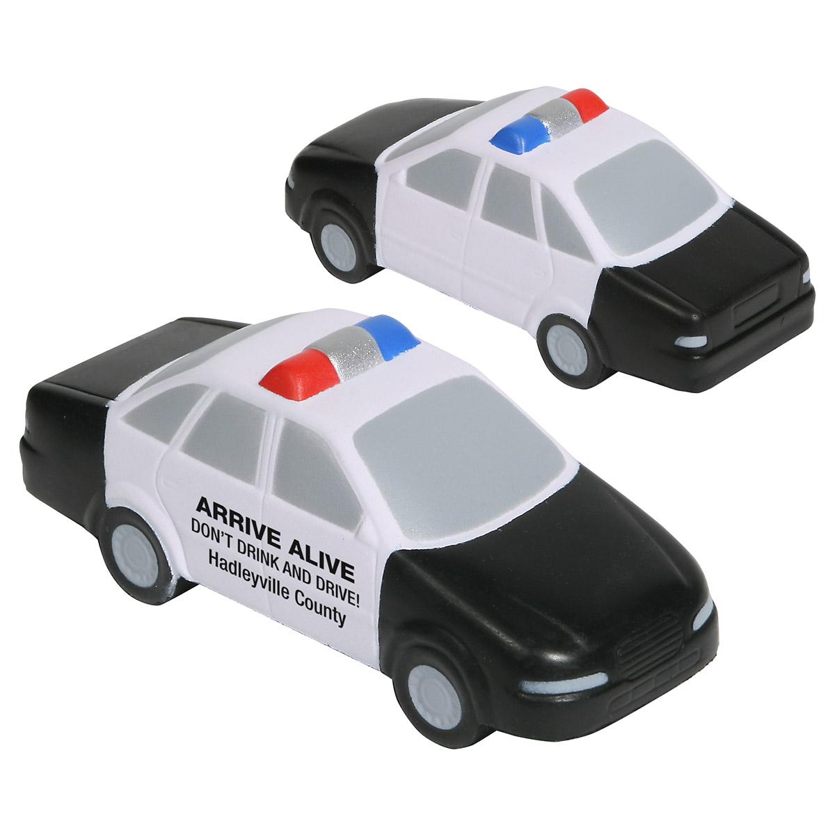 Police Car Stress Reliever, LCC-PC06 - 1 Colour Imprint