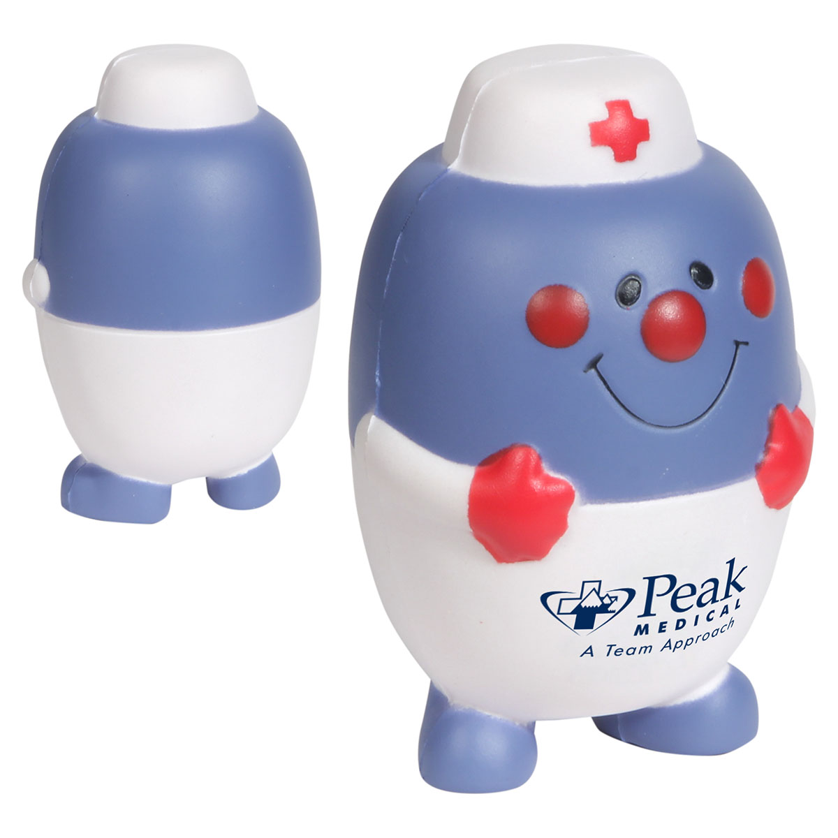 Pill Nurse Stress Reliever, LAN-EM02 - 1 Colour Imprint