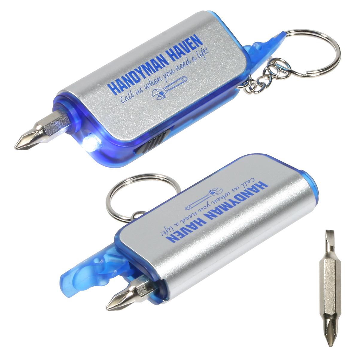 Screwdriver Flashlight Keychain, WTT-SF09 - 1 Colour Imprint