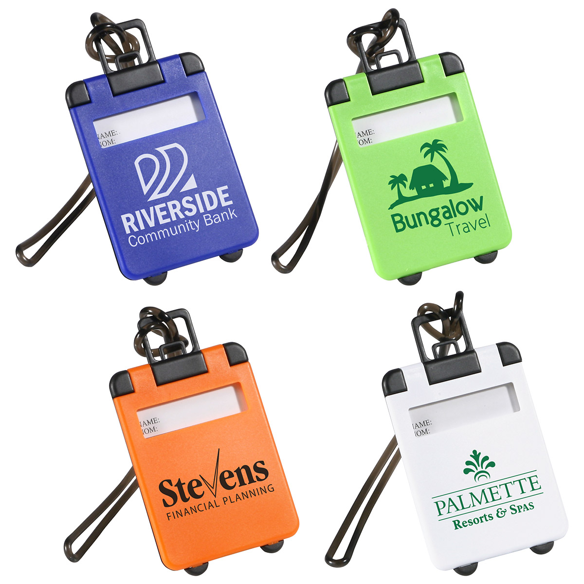 Travel Tote Luggage Tag, WTV-TT10 - 1 Colour Imprint