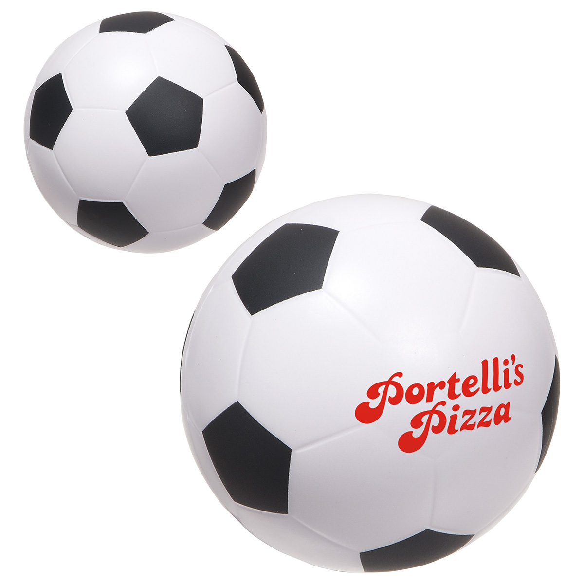 Large Soccer Ball Stress Reliever, LSP-SC18, 1 Colour Imprint