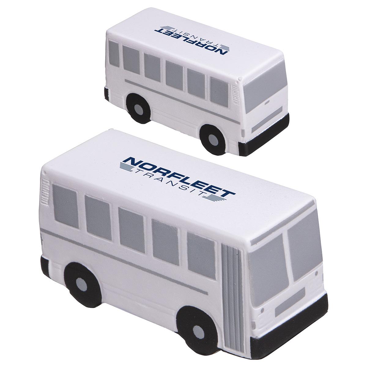 City Bus Stress Reliever, LTR-CB03, 1 Colour Imprint