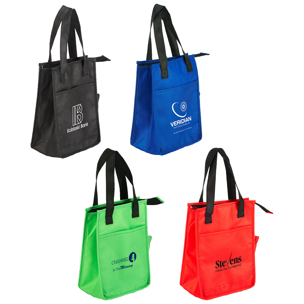 Lightning Sack Insulated Lunch Bag, WBA-LB10, 1 Colour Imprint