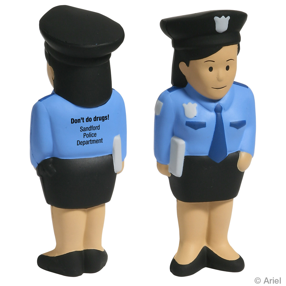 Police Woman Stress Reliever, LCC-PW11, 1 Colour Imprint