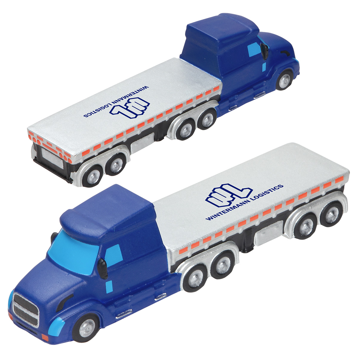 Semi Flatbed Truck Stress Reliever, LTR-SF19, 1 Colour Imprint