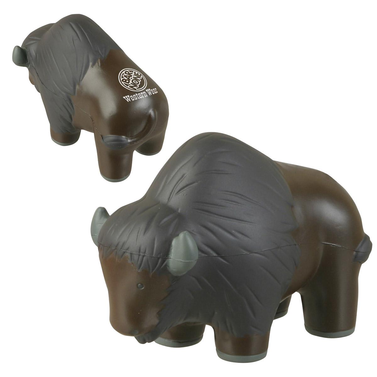 Buffalo Stress Reliever, LAZ-BU12 - 1 Colour Imprint