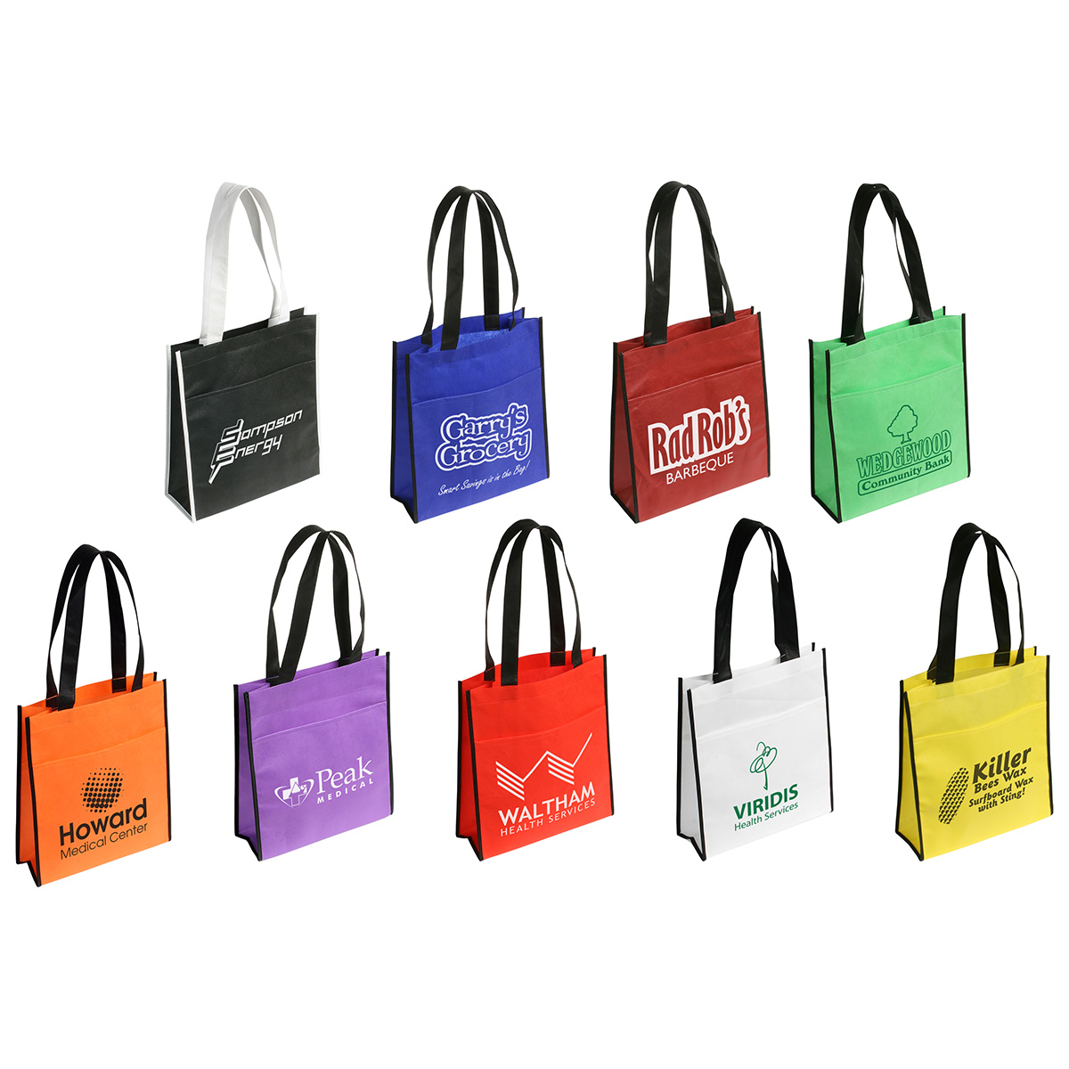 Peak Tote Bag w/ Pocket, WBA-PT09 - 1 Colour Imprint