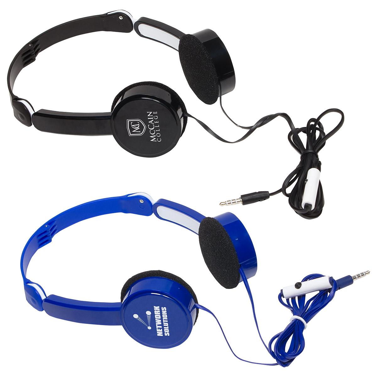 Compact Folding Headphones, WTV-CF16 - 1 Colour Imprint