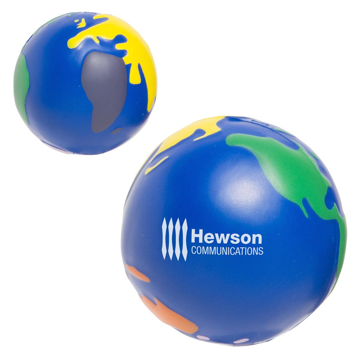 Multicolored Earthball Stress Reliever, LEB-MC02, 1 Colour Imprint