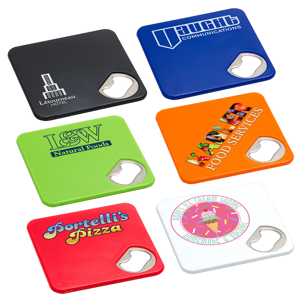 Econo Bottle Opener Coaster, WKA-EB17, 1 Colour Imprint