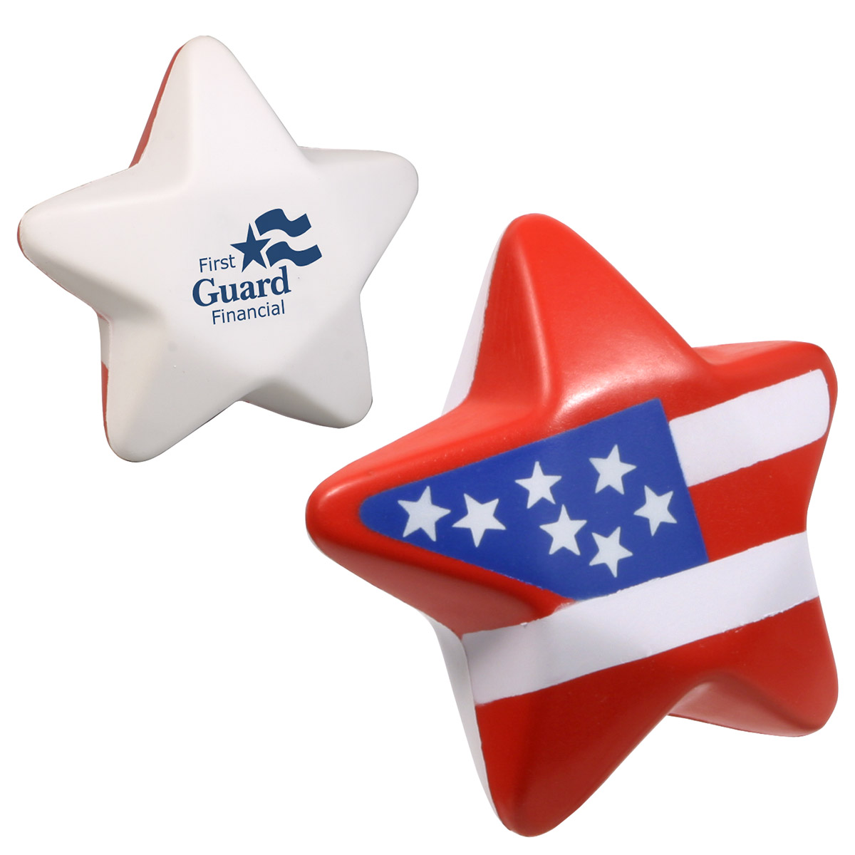Patriotic Star Stress Reliever, LPA-ST06, 1 Colour Imprint