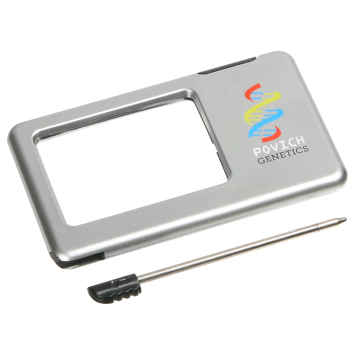 Silver Thin Light-Up Magnifier, WPC-LM10, 1 Colour Imprint