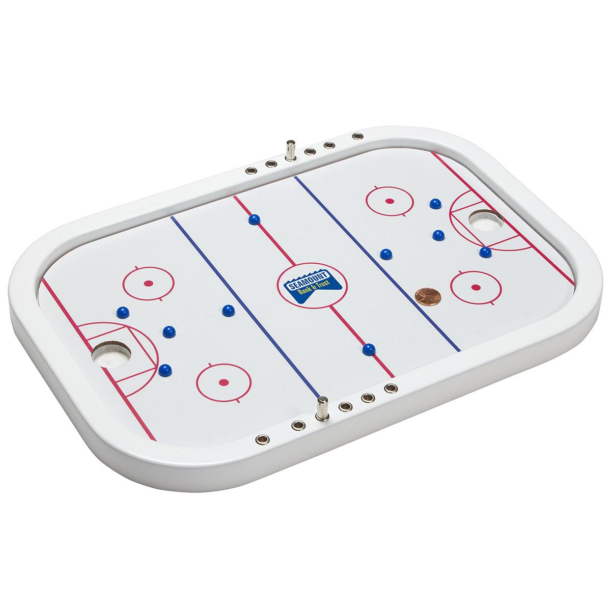 Penny Hockey Executive Wooden Board Game, WAB-PH18, Full Colour Imprint