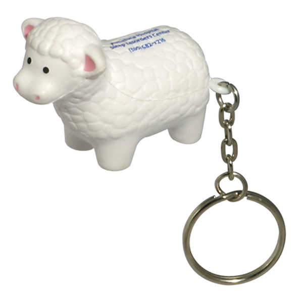 Sheep Stress Reliever Keychain, LKC-SH14 - 1 Colour Imprint