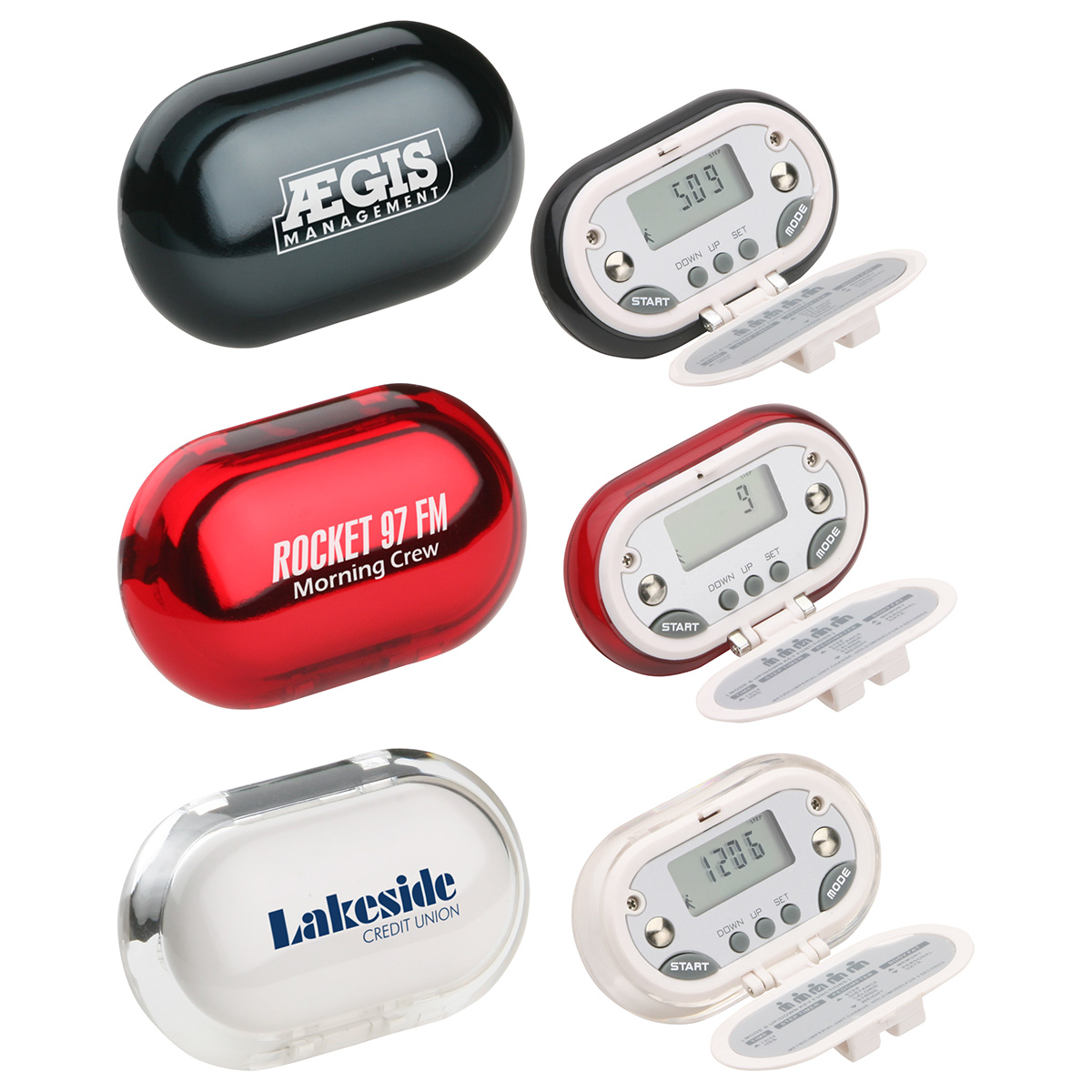 Gemstone BMI & Body Fat Pedometer, WHF-GB08 - 1 Colour Imprint