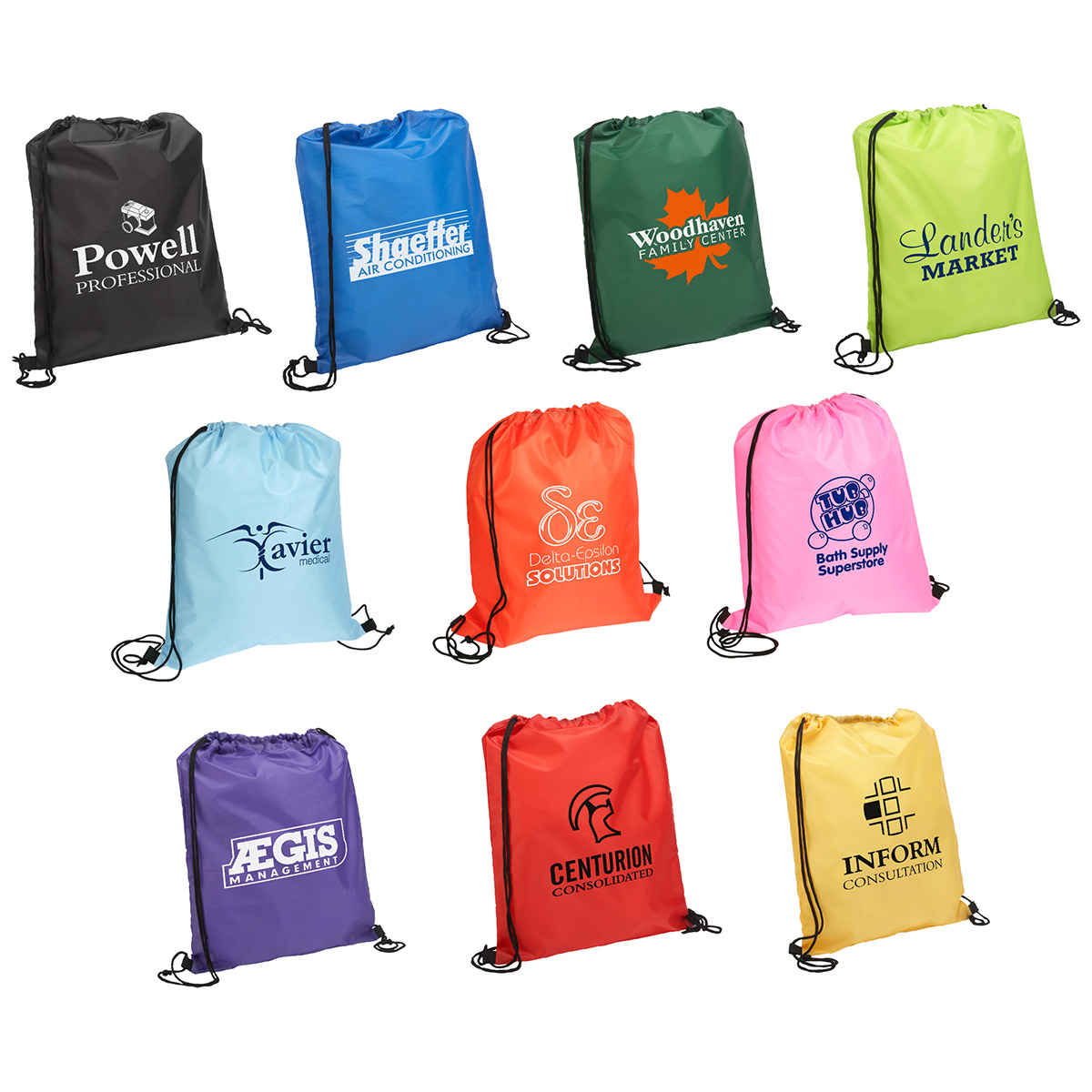 Quick Sling Budget Backpack, WBA-QS10 - 1 Colour Imprint