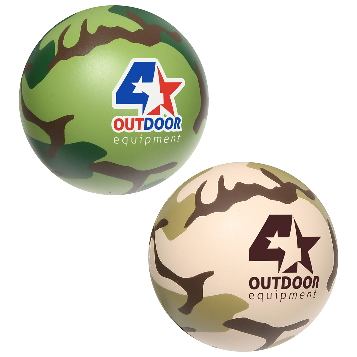 Camouflage Stress Ball, LSB-CB10 - 1 Colour Imprint