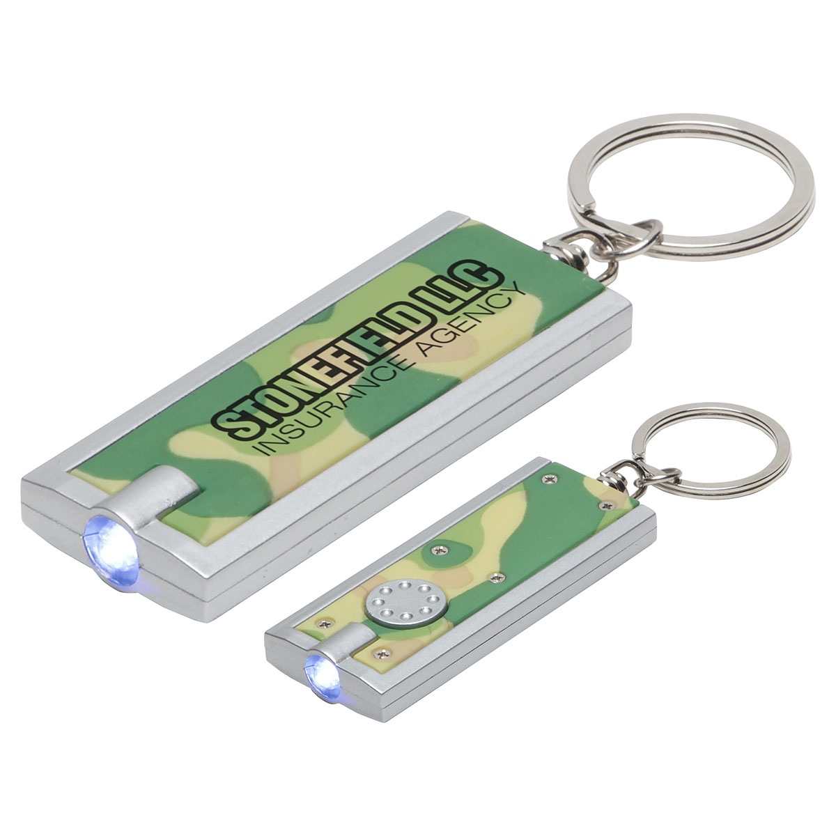 Simple Touch Camouflage LED Keychain, WLT-SC11 - 1 Colour Imprint