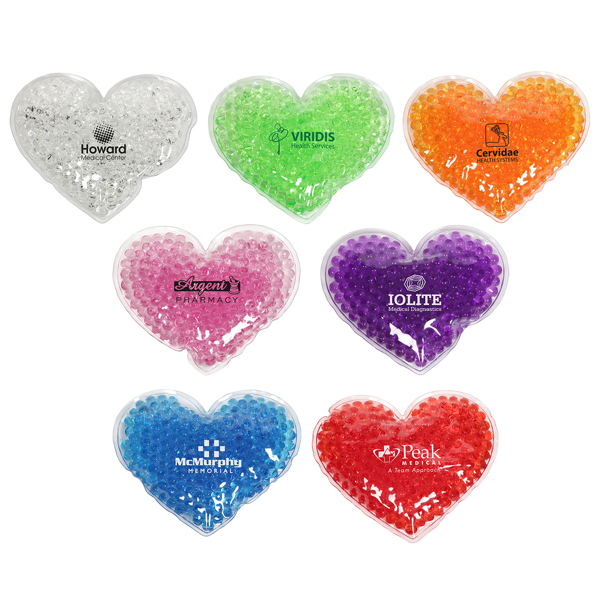 Heart Aqua Pearls Hot/Cold Pack, WHF-HG16 - 1 Colour Imprint