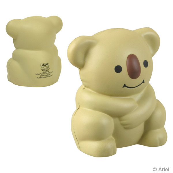 Koala Bear Stress Reliever, LAZ-KB14 - 1 Colour Imprint
