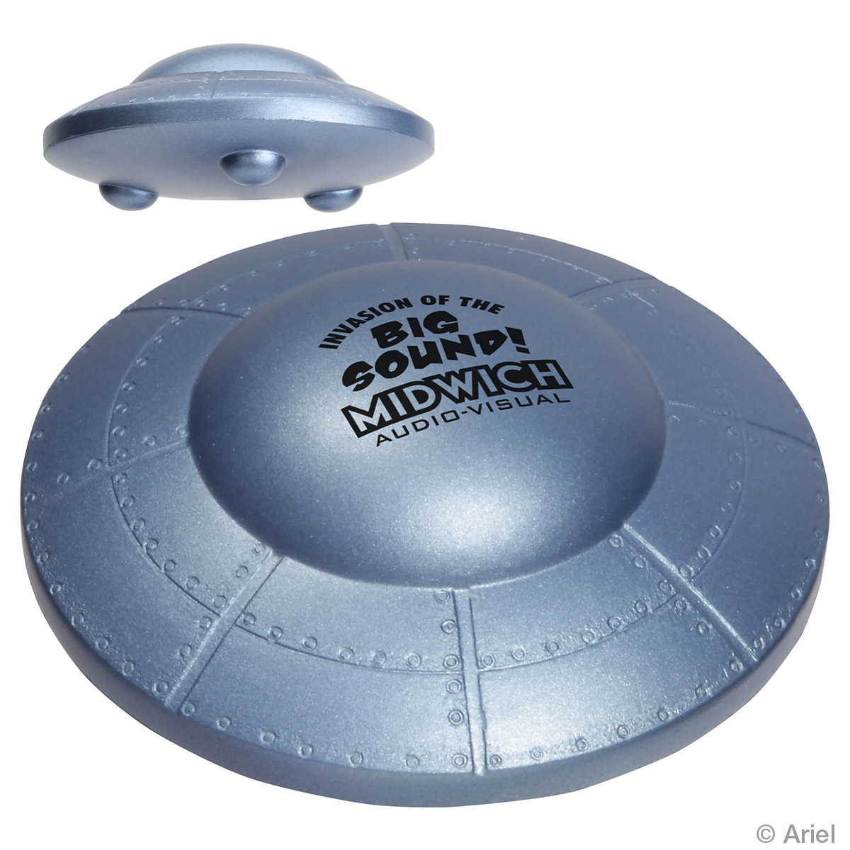 Flying Saucer Stress Reliever, LFF-FS08 - 1 Colour Imprint
