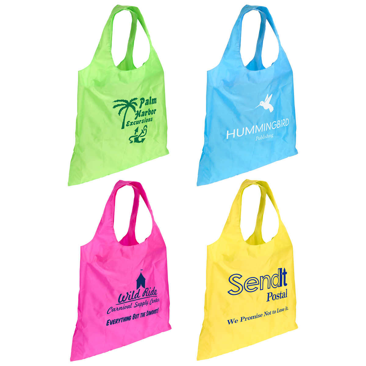 Spring Sling Folding Tote Bag, WBA-SS10, 1 Colour Imprint