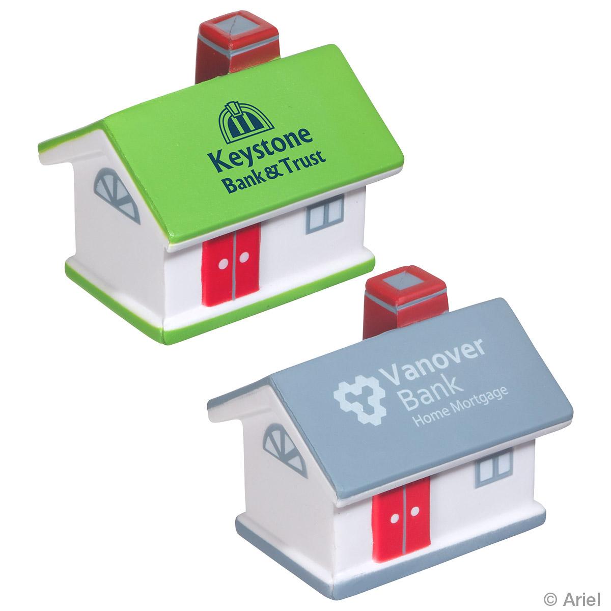 House Shaped Stress Reliever, LCN-HS09 - 1 Colour Imprint