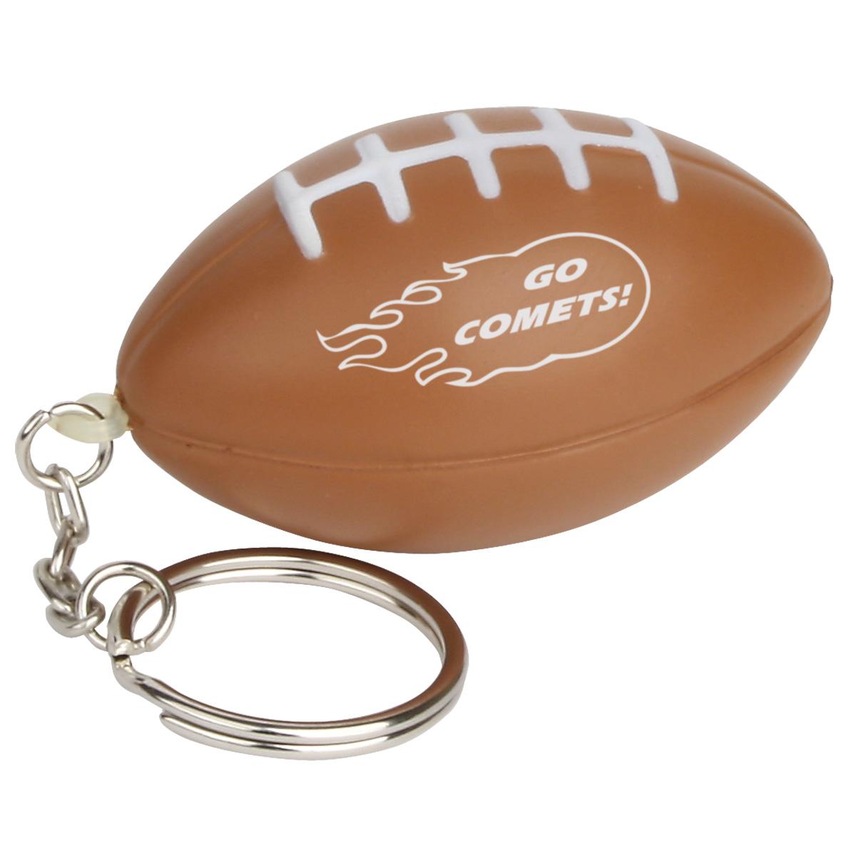 Football Stress Reliever Key Chain, LKC-FB03, 1 Colour Imprint