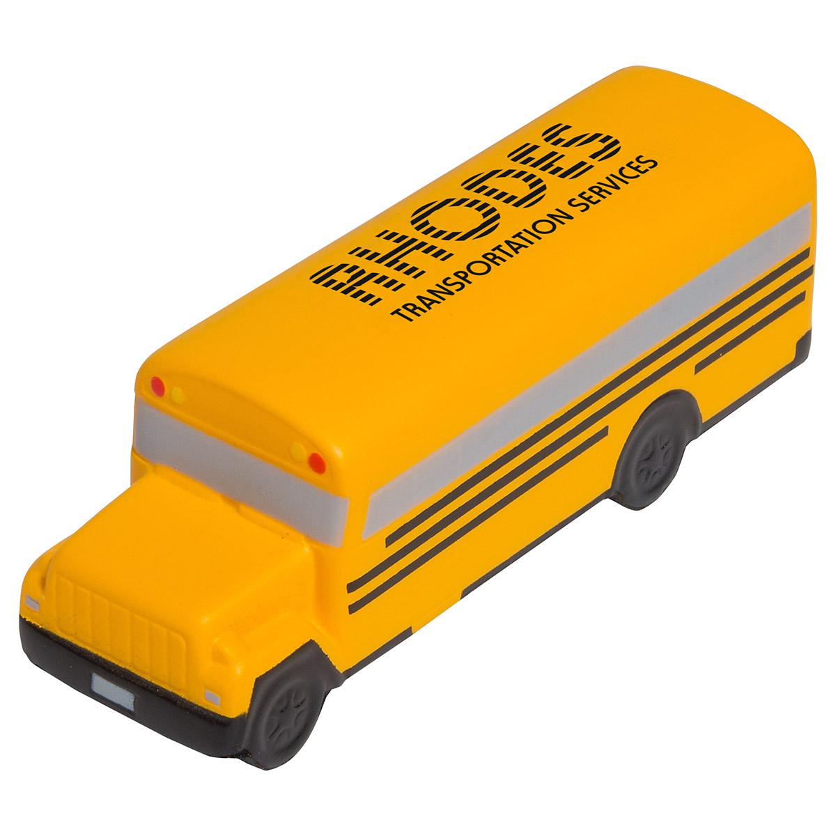 Conventional School Bus Stress Reliever, LED-SB23 - 1 Colour Imprint