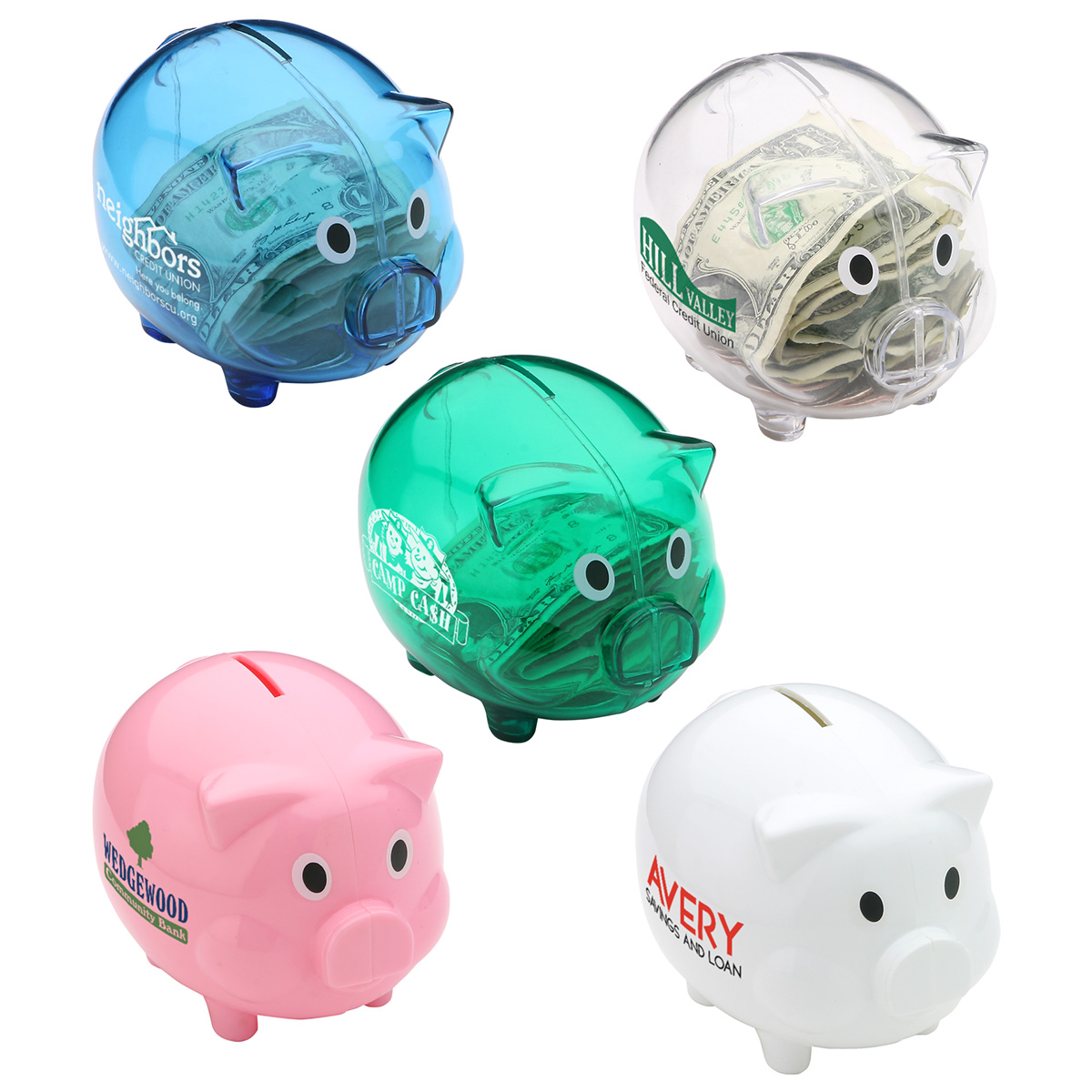Piggy Bank, WOF-PB35 - 1 Colour Imprint