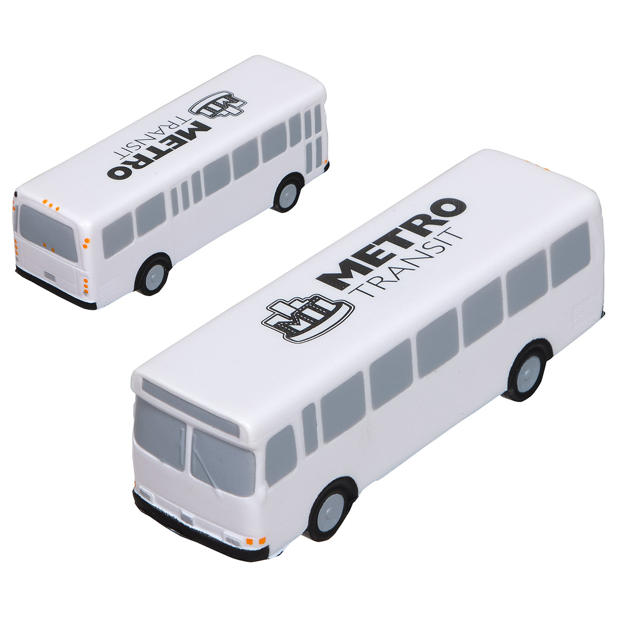 Metro Bus Stress Reliever, LTR-MB39, 1 Colour Imprint