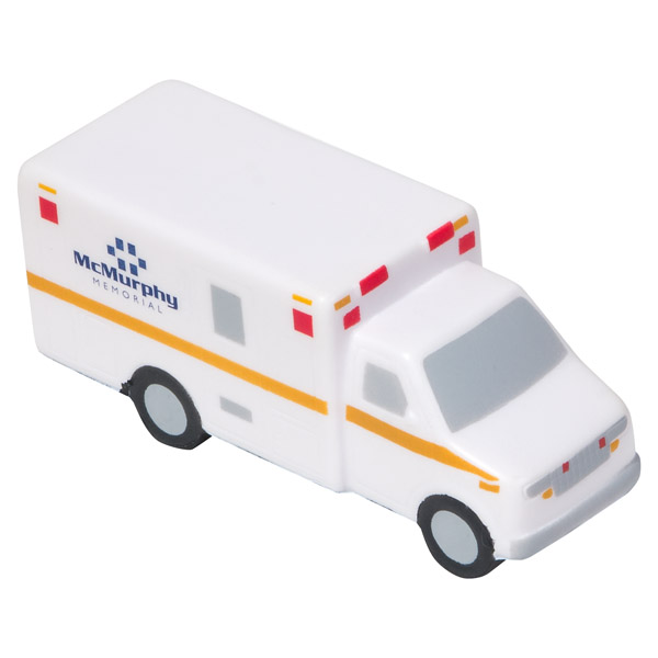 Ambulance Stress Reliever, LCC-AM39 - 1 Colour Imprint