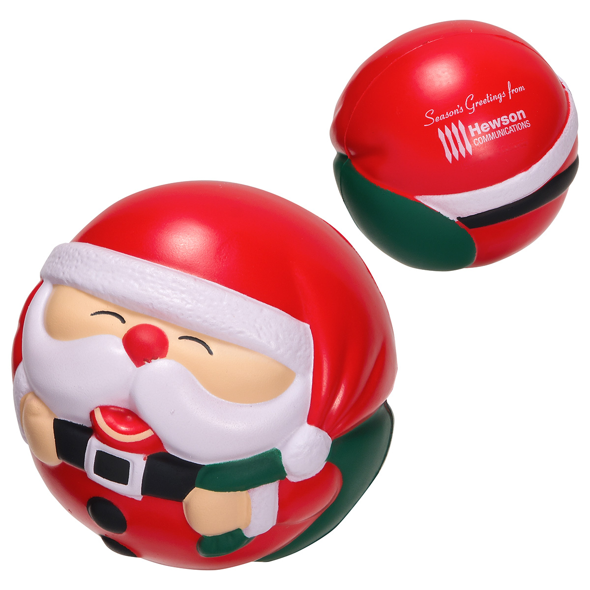 Santa Claus Stress Ball, LHO-SA06 - 1 Colour Imprint