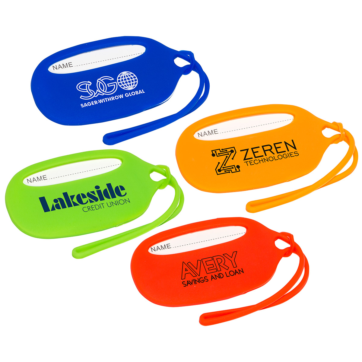 Durable Silicone Luggage Tag, WTV-DS17 - 1 Colour Imprint