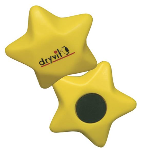 Star Stress Reliever Magnet, LMG-ST06, 1 Colour Imprint