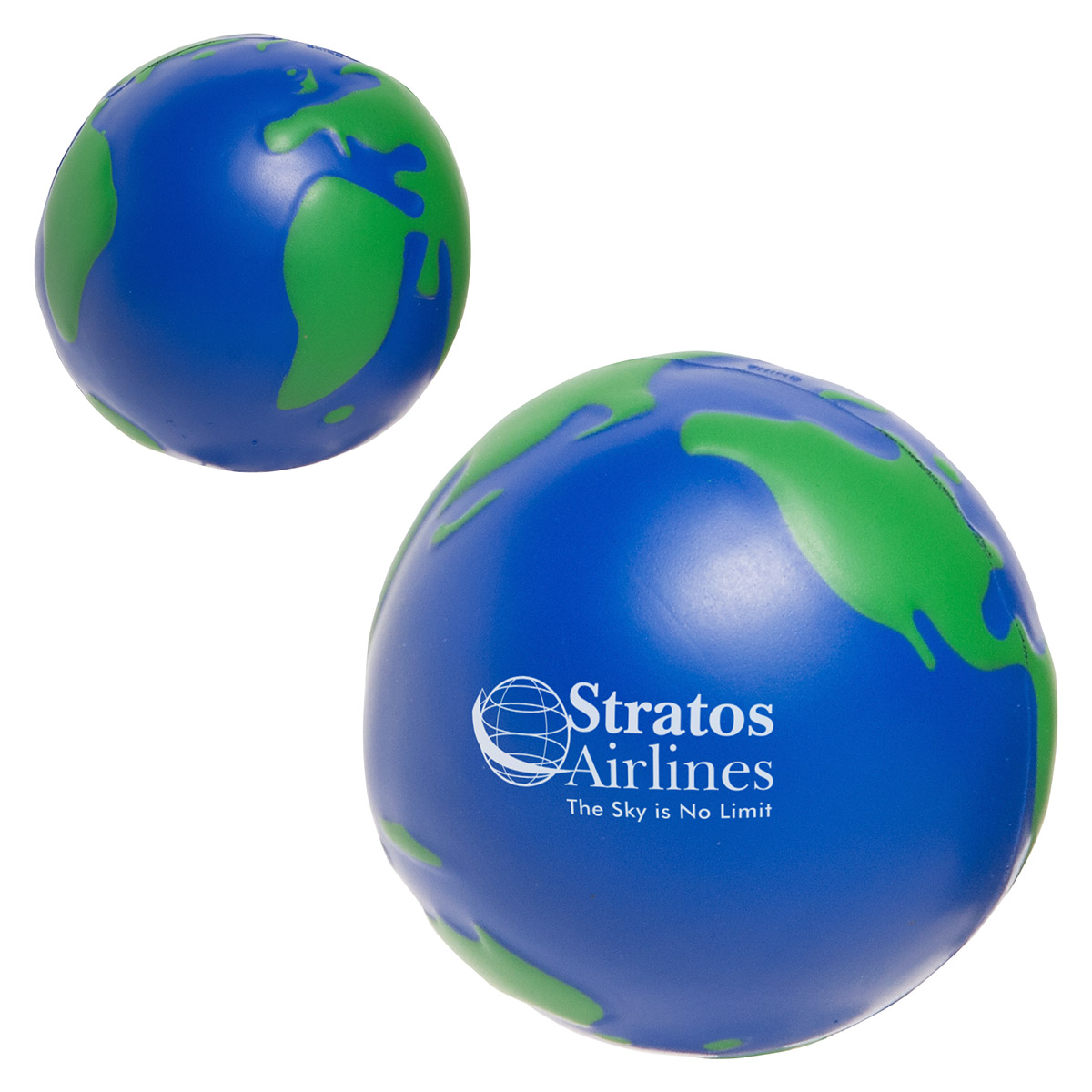 Earth Ball Stress Reliever, LEB-EB01 - 1 Colour Imprint