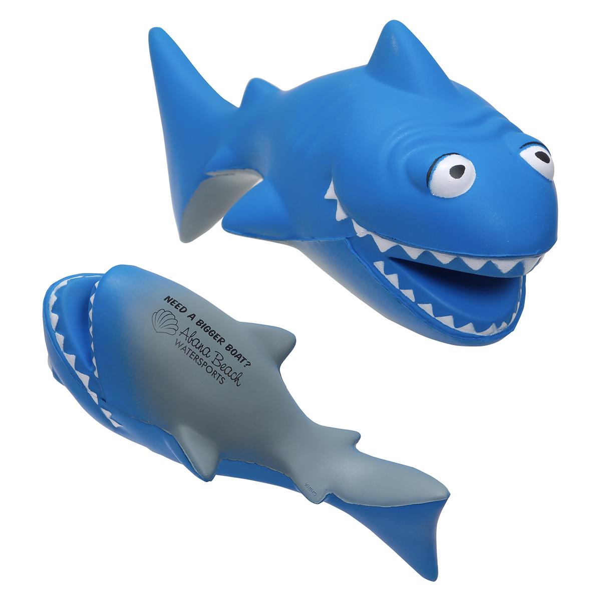 Cartoon Shark Stress Reliever, LFF-SK08 - 1 Colour Imprint