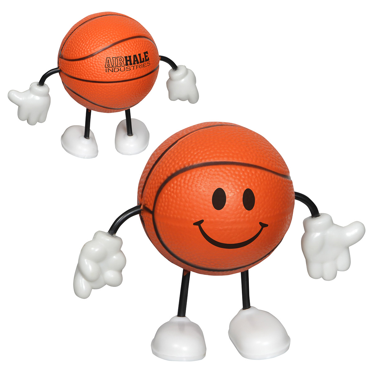 Basketball Figure Stress Reliever, LCH-BK02 - 1 Colour Imprint