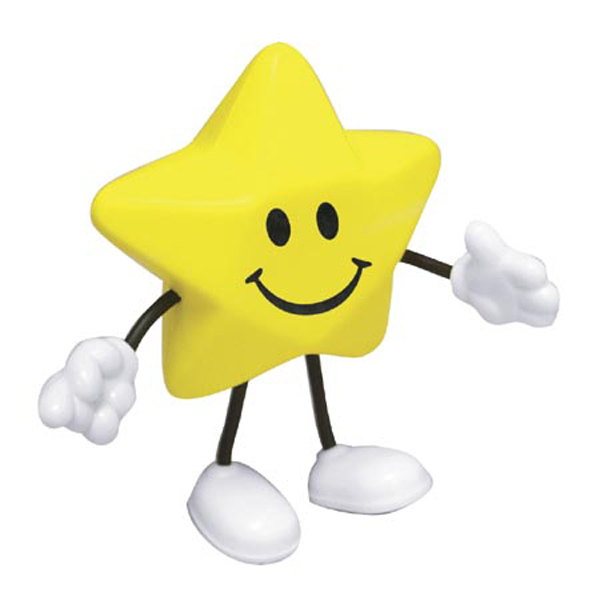 Star Stress Reliever Figure, LCH-ST06, 1 Colour Imprint