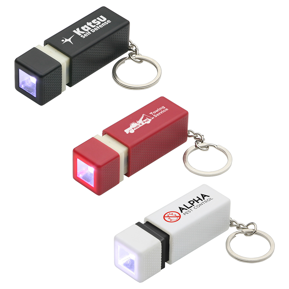 Pull-Lite LED Keychain, WLT-PL11 - 1 Colour Imprint