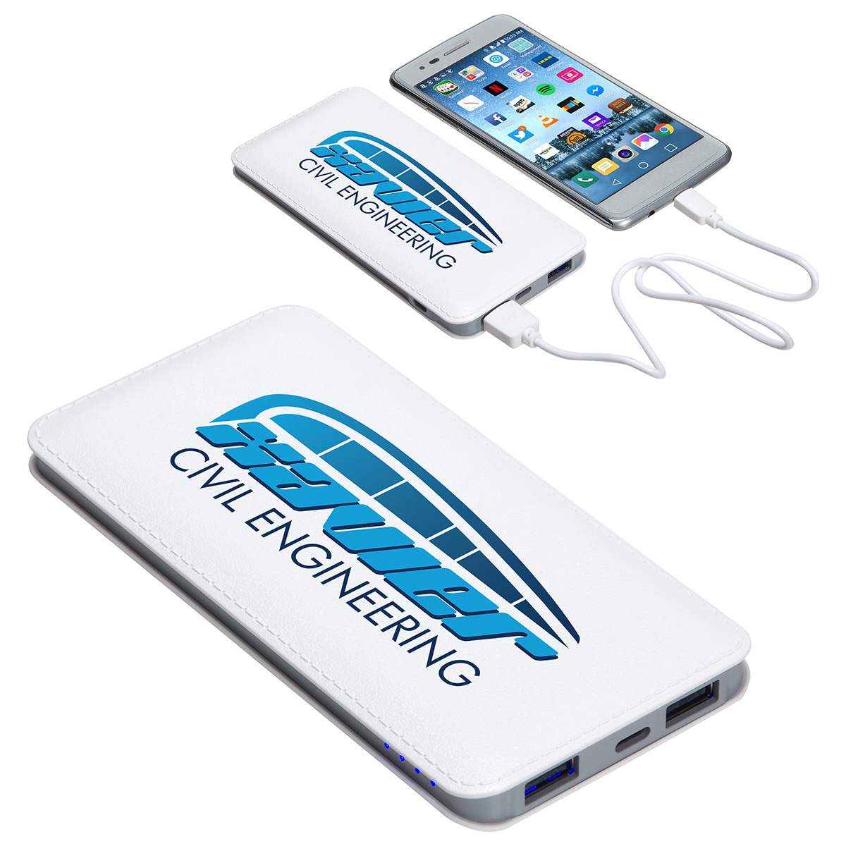 Ambassador 10000mAh Leather Power Bank, EPB-AB18, 1 Colour Imprint