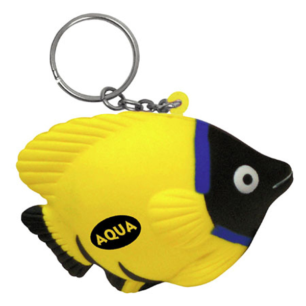 Tropical Fish Stress Reliever Keychain, LKC-TF09 - 1 Colour Imprint