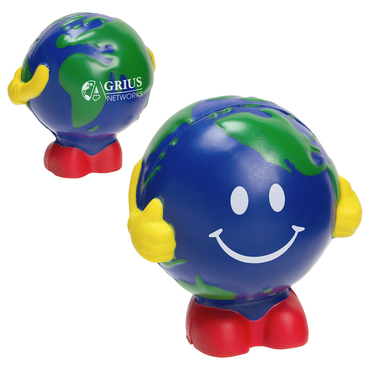 Earth Ball Man Stress Reliever, LEB-EM18 - 1 Colour Imprint