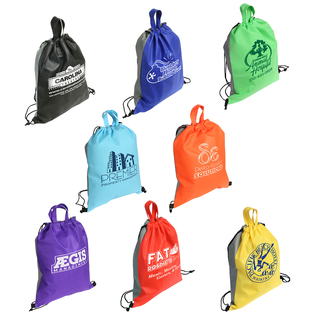 Glide Right Drawstring Backpack, WBA-GR09 - 1 Colour Imprint