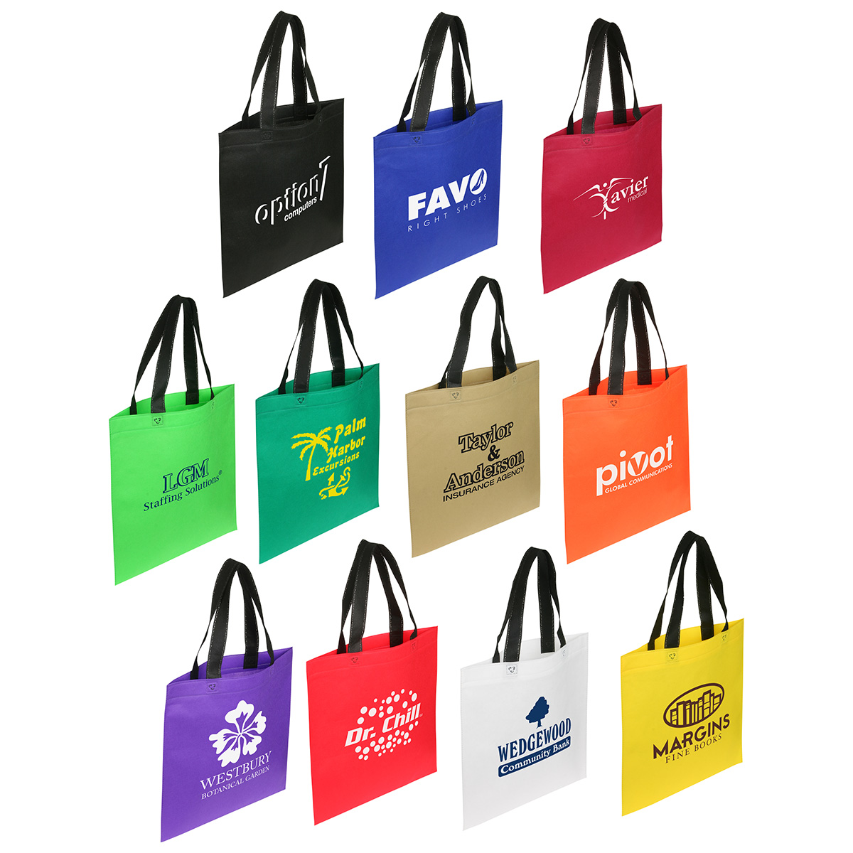 Portrait Recycle Shopping Bag, WBA-PR11 - 1 Colour Imprint
