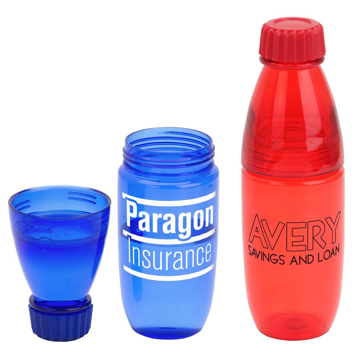 Convertible 20 oz Tritan Bottle and Tumbler, DTM-CV17, 1 Colour Imprint