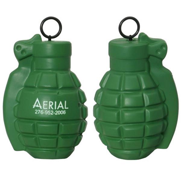 Vibrating Grenade Stress Reliever, LVB-GR20 - 1 Colour Imprint